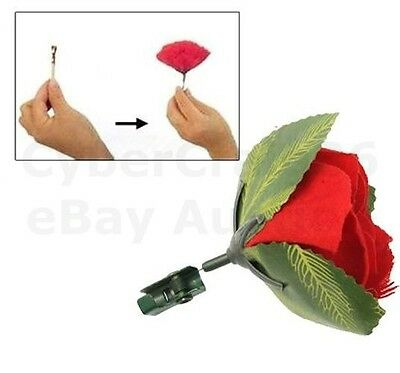 Match To Red Rose Flower Fire Flame Pocket Magic Trick Light Stage Street Change