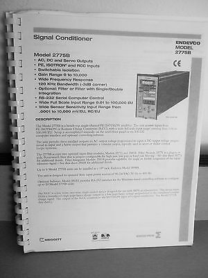 Endevco Model 2775B Signal Conditioner Instruction Manual