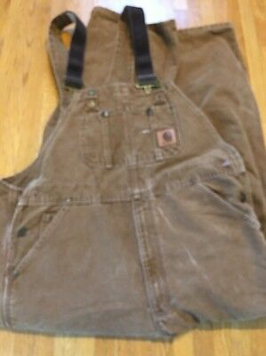 Carhartt Men's Unlined Bib Overalls 40x30 R06 211