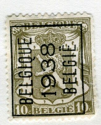 BELGIUM;  1938 Boxed Belgie Optd. on definitive issue 10c. Mint hinged