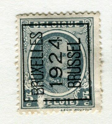 BELGIUM;  1924 Boxed Brussel Optd. on definitive issue 5c. Mint hinged