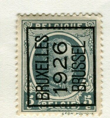BELGIUM;  1926 Boxed Brussel Optd. on definitive issue 5c. Mint hinged