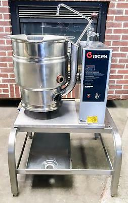 Groen Tdb-20 Stainless Steel Steam Jacketed Electric Tilt Kettle On Ts/9 Stand