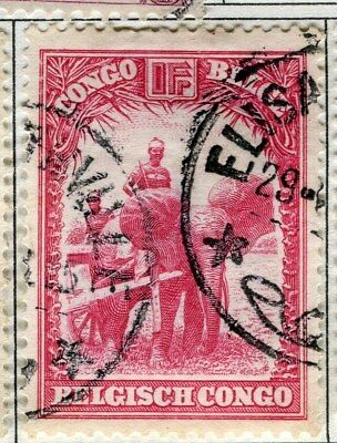 BELGIUM CONGO;  1931 early pictorial issue fine used 1Fr. value