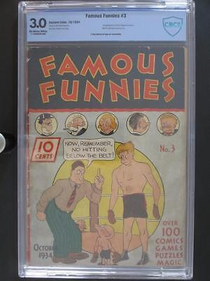 Famous Funnies #3 - CBCS 3.0 GD/VG - Eastern Color 1934 - 1st App of Buck Rogers