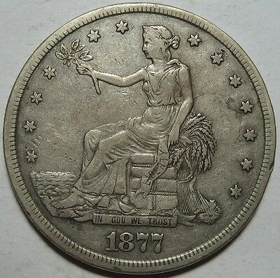 = 1877-S VF/XF TRADE Dollar, Nice EYE Appeal, FREE Shipping
