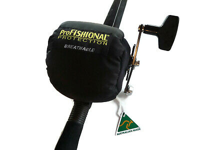 Overhead Fishing Reel Cover Small Size - breathable Material - Made in Australia
