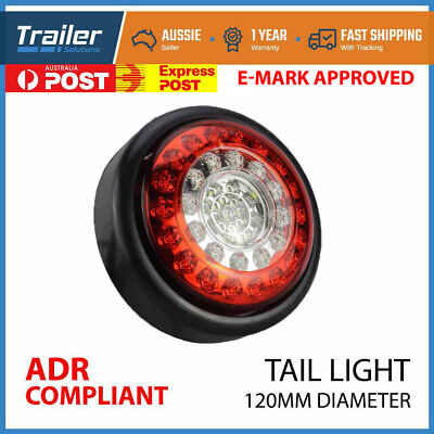 1x LED ROUND TRAILER LIGHTS REVERSE HAMBURGER 12V TRAILER TRUCK CARAVAN 4WD