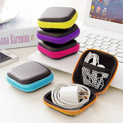 Black Case Bag Holder Storage For SD TF Card Earphone Headphone Earbuds Gadget