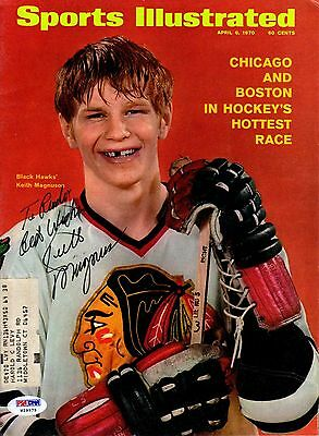 Psa/dna Keith Magnuson Autographed-Signed 1970 Sports Illustrated Magazine 29975