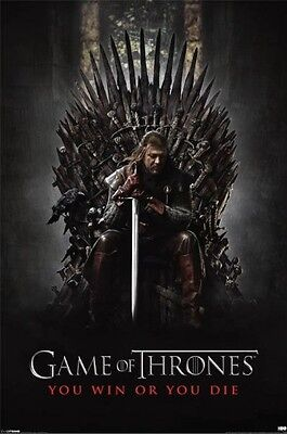 """Game of Thrones """"You Win or You Die"""" Poster  61cmx91cm  New Licensed"""