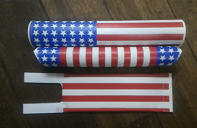 USA flag white blue red padset BMX oldschool with vintage RARE
