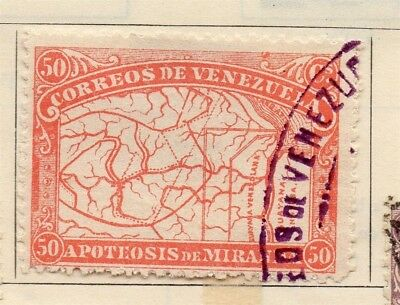 Venezuela 1896 Map  Early Issue Fine Used 50c. 137911