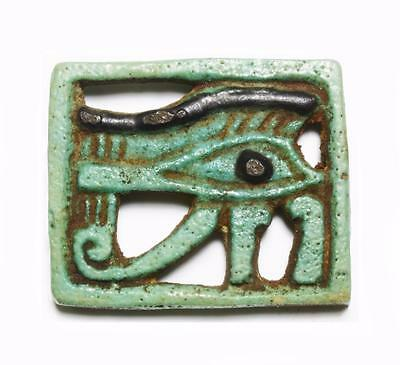 Fine large  openwork Egyptian Eye of Horus amulet: Circa 1079-664 BC.