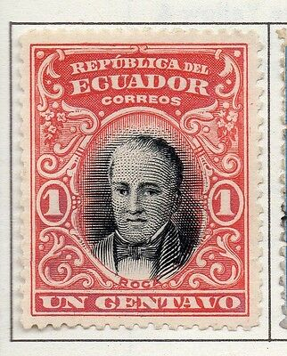 Ecuador 1907 Early Issue Fine Mint Hinged 1c. 138023