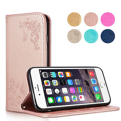 Card Slot Leather Magnetic Flip Stand Wallet Case Cover For Apple iPhone 7 8 X