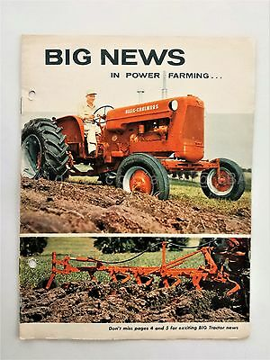 1960 vintage ALLIS-CHALMERS TRACTOR CATALOG SALES BROCHURE farm