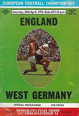 England V West Germany ~ European Qualifier ~ 29 April 1972  (3)