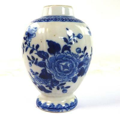 18Th Century Antique Chinese Qianlong Porcelain Tea Caddy