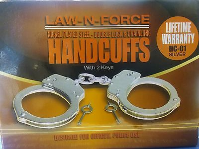 New Law-N-Force  Double Locking Handcuffs