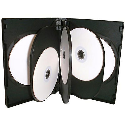 50 X CD DVD 27mm Black DVD 8 Way Case for 8 Disc - Pack of 50