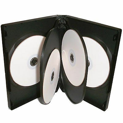 100 X CD DVD 22mm Black DVD 5 Way Case for 5 Disc - Pack of 100