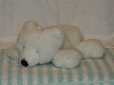 National Geographic Plush White Polar Bear Cub Stuffed Animal Toy