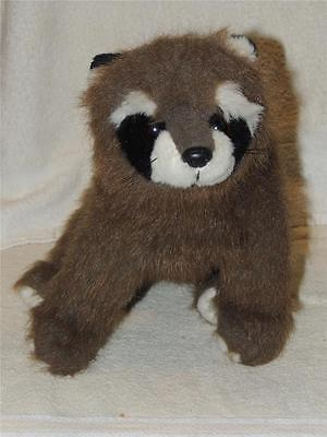 """TY Classic Bandit 1991 Brown Raccoon Plush Stuffed Animal 18"""" Excellent Clean"""