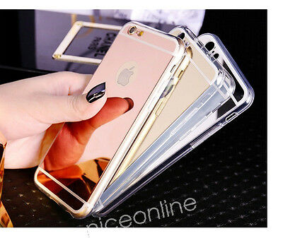 New Luxury Ultra-thin Soft Silicone TPU Mirror Case Cover for Various Cell Phone