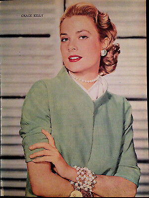 Grace Kelly - Vintage, Original 1 Page Picture Taken From 1955 Book.