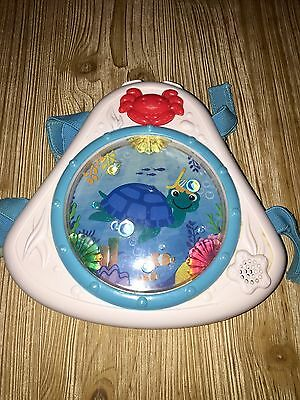 BABY EINSTEIN Crib Soother Stroller LIGHT-UP MUSICAL Hanging Toy NEPTUNE TURTLE