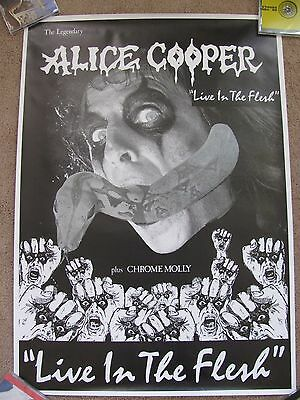 Alice Cooper Live in the Flesh, 1988 UK Tour, Promo Poster M- Condition