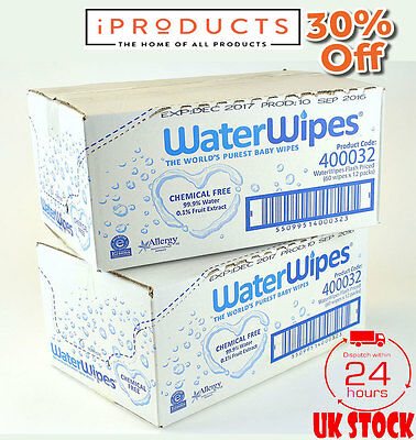 WaterWipes Chemical Free Baby Wipes, Natural & Sensitive