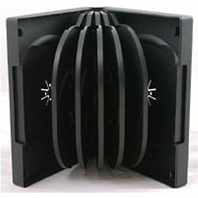 5 X CD DVD 39mm Black DVD 12 Way Case for 12 Disc - Pack of 5