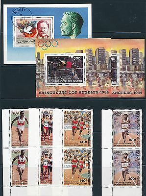 Niger 1984 OLYMPICS ISSUE PAIRS & S/S (2) and T ROOSEVELT 1977 S/S; CV $19