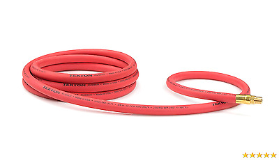 TEKTON 46334 3/8-Inch I.D. by 10-Foot 250 PSI Rubber Lead-In Air Hose with