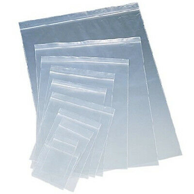 Clear Plastic Ziplock Reclosable Poly Seal Top Bags Coins/Jewelery Small-Large
