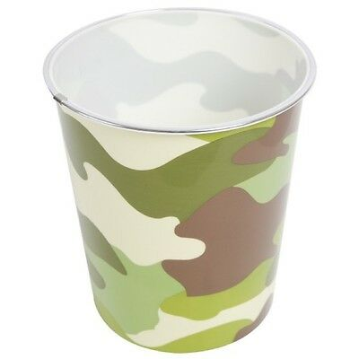 Sale! Kids Army Camouflage Bin Woodland Dpm Camo Bedroom Office Decor Boys