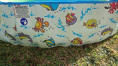 NEW Kids Large Splash Pool Above Ground  Toddler Wading Rigid Wall, No Assembly