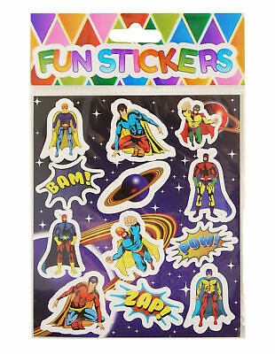 6 packs of Super Hero kids Sticker Sheets - Pinata Toy Loot  Party Bag Fillers .