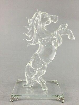 22cm Crystal Horse Figurine Gift Home Decoration