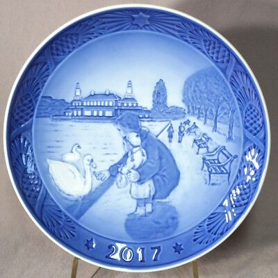 ROYAL COPENHAGEN 2017 Christmas Plate By the Lakes - New in Box - Over 160 Sold!