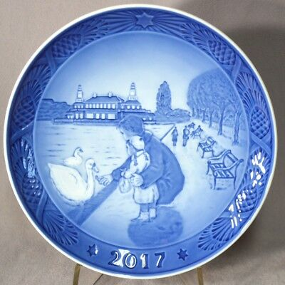 ROYAL COPENHAGEN 2017 Christmas Plate New in Box – By the Lakes - New in Box!