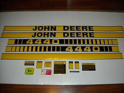 John Deere 4440 tractor decal set with caution kit and logo