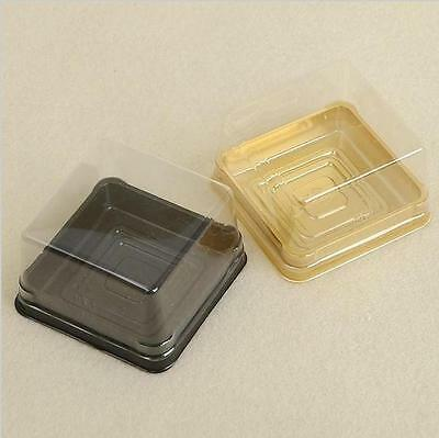 50pcs=25sets Plastic Cupcake Box Muffin Container Cupcake Packaging Favor Box