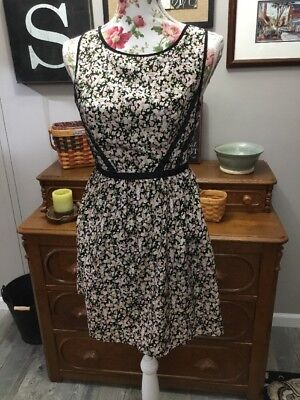 25f99be13898 KOHLS THREE PINK Hearts NWT Floral Dress Size 5 Exposed Back Zipper -  6.29