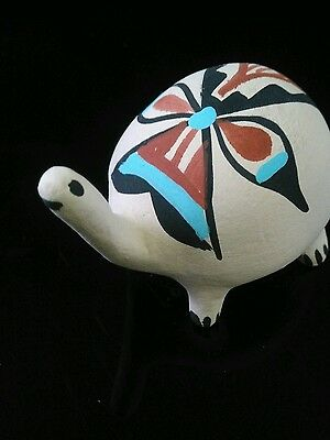 Native American Jemez Pueblo Pottery Handmade  Figurine #4 Signed Chinana N.M