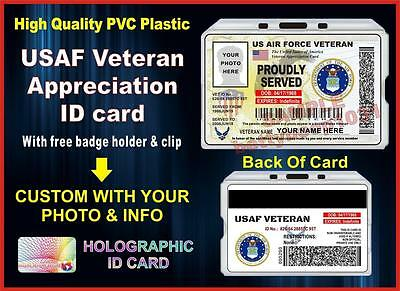USAF Veteran (Appreciation) ID Card / Badge - Military - United States Air Force