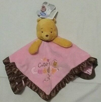 NEW Disney Baby Winnie The Pooh Security Blanket/Blankie/Lovey~Pink