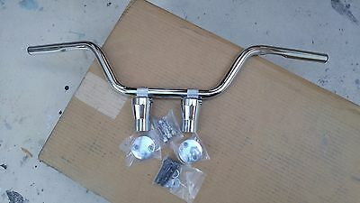 "Chrome Bad Boy Springer Style Bars W 3"" Chrome Risers 4 Harley Dna Springer"
